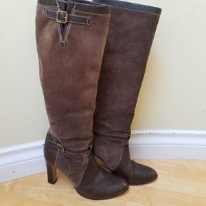 Michael Kors Brown Leather Suede Boots size 8.5